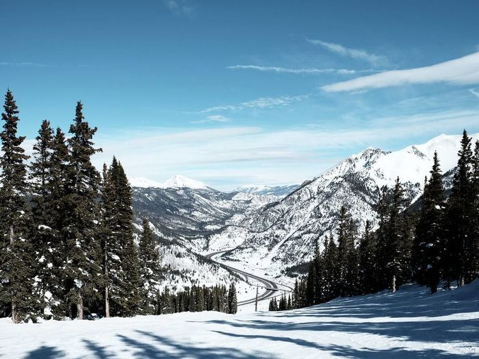 Road view Reimerpics Travel Colarado Coppermountain Photography Snow Winter Landscape Mountain Tree Blue Tourism Pinaceae Pine Tree Travel Scenics Beauty In Nature Travel Photography Outdoors No People Nature
