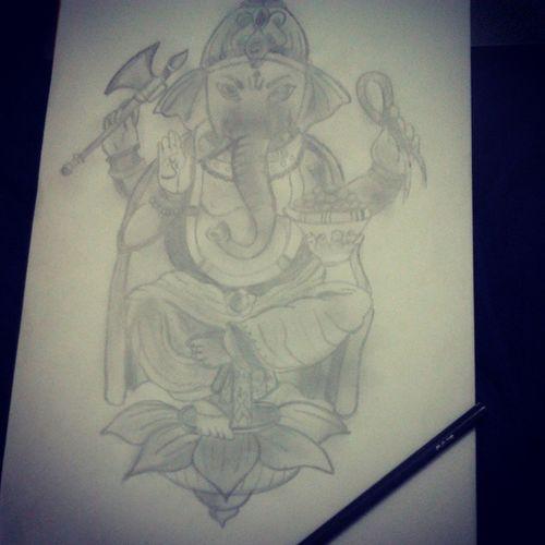 El momento de paz del día ~ <3 Dibujo Ganesha Mantras Happy badday