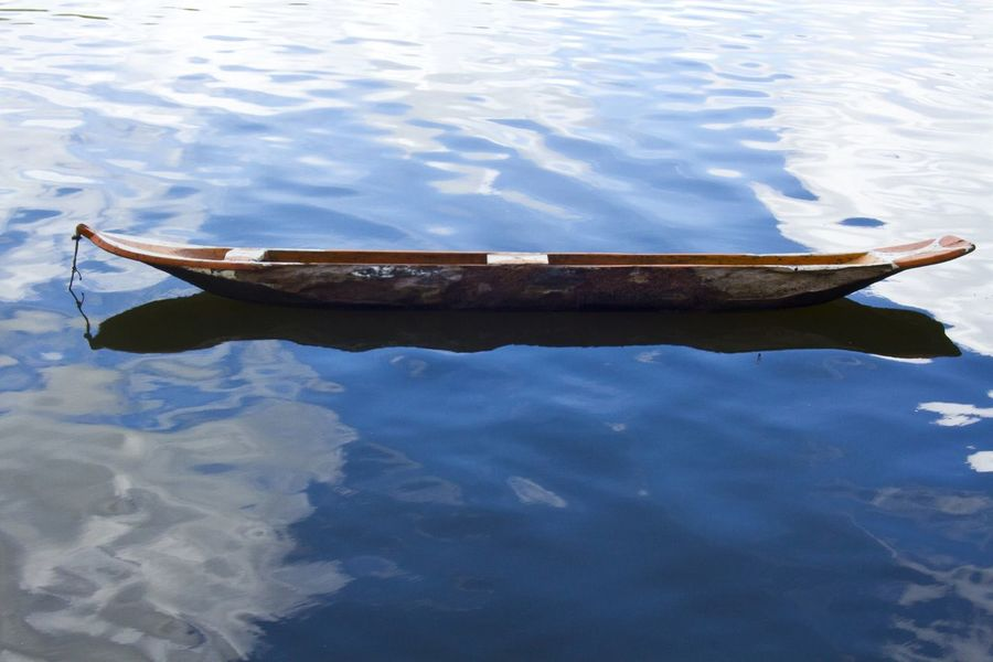 Canoe, by Paulo César Lima Beauty In Nature Boat Canoe Indigenous  Lake Tranquil Scene Water Wood