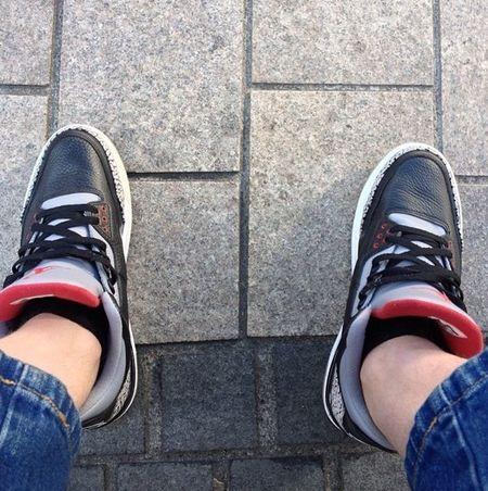 Its a 3 kind of day Air Jordan Jordan3 Blackcement TodaysKicks