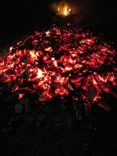 Red Night No People Illuminated Outdoors Fire Campfire GatesOfHell Coal Burning Burning Coals Roadtohell Pathway Fiery Light Nightshot Nightphotography Cave Torch EyeEmNewHere EyeEmNewHere
