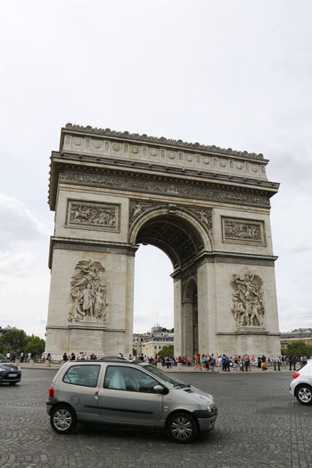 Arc De Triomphe Arch De Triumph Architecture Famous Place France Low-angle Shot National Landmark Paris Tourist Attraction  Tourist Destination Travel Destinations