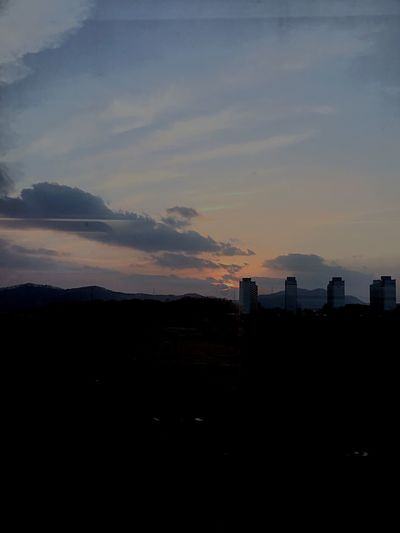 Sunset Silhouette Sky No People Architecture Built Structure Building Exterior Stories From The City