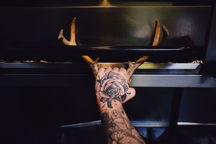 EyeEm Selects Tattoo Human Hand Real People Ink Chef Antlers