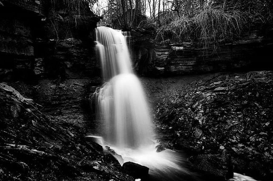 Webwood dream https://goo.gl/fM9OgZ Reimerpics Webwoodfalls Photo Ontario Waterfall Landscape Water Blackandwhite