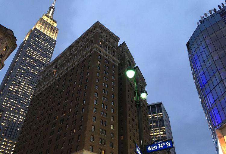 Empire State Building 34th Street  New York City Skyscrapers Manhattan The Big Apple