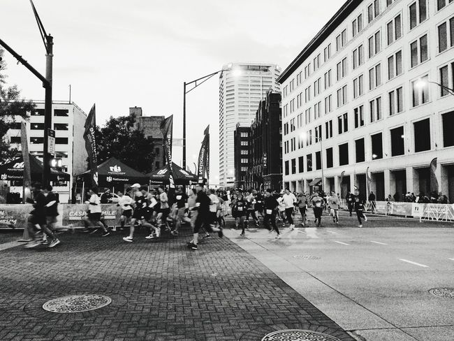 Columbus Marathon Race Day Black And White VSCO Cbus