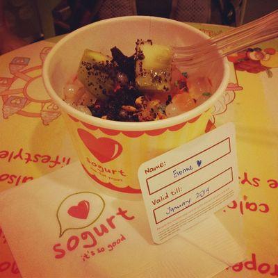 My Sogurt membership!