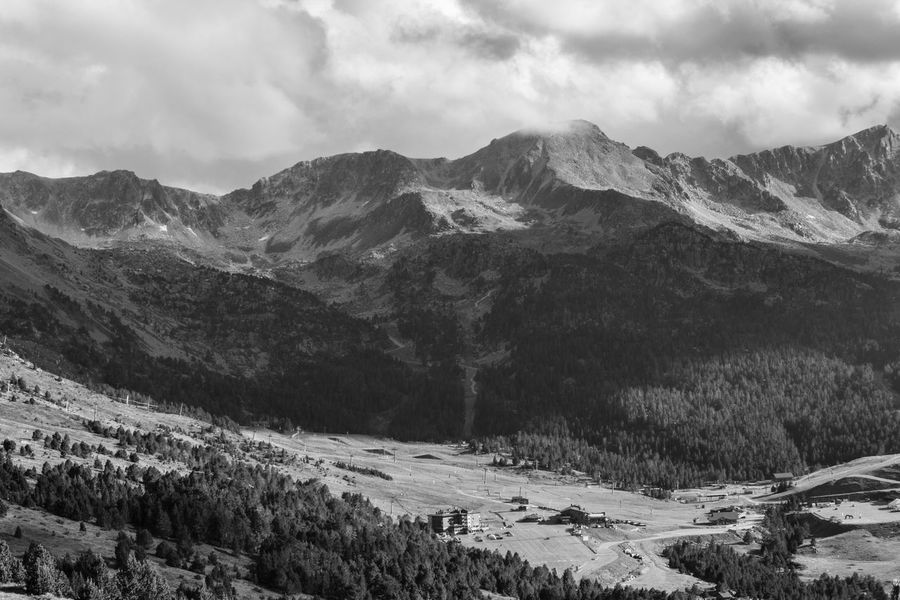 Pyrenees Beauty In Nature Blackandwhitephotography Cloud - Sky Landscape Mountain Mountain Range Nature No People Scenery Scenics Tranquility Wilderness