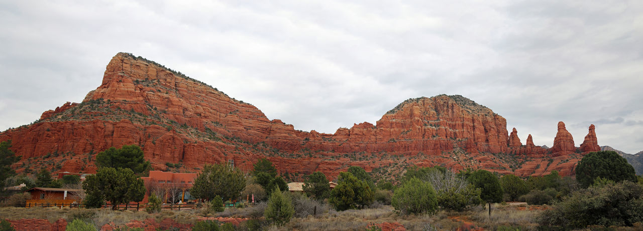 Panorama Beauty In Nature Geology Panorama Red Rocks  Sedona, Az Tourism Tranquility Travel Vacation