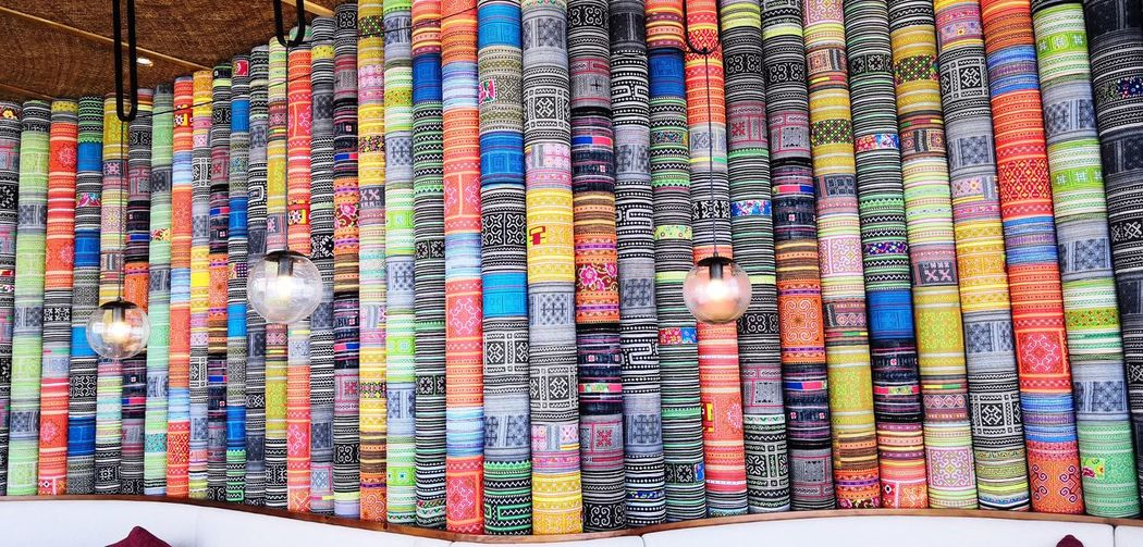 Multi Colored Pattern Art And Craft Backgrounds Full Frame Creativity No People Textile Design Indoors  Craft Large Group Of Objects Wall - Building Feature Textured  Floral Pattern