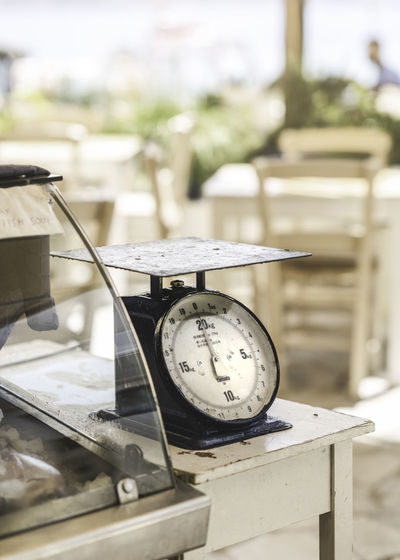 Retro Scale  Weight Scale Close-up Day Equipment Focus On Foreground Glass - Material Household Equipment Metal Nature No People Number Old Outdoors Selective Focus Still Life Sunlight Table Technology Time Vintage