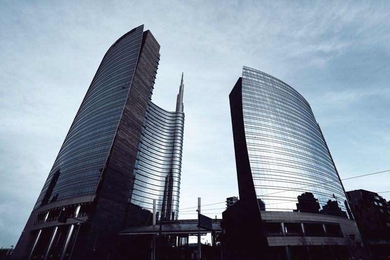 Milano Built Structure Architecture Sky Low Angle View Building Exterior Tall - High Building No People Silhouette City Skyscraper Arts Culture And Entertainment Travel Destinations Modern Office Building Exterior Day Nature Tower Outdoors