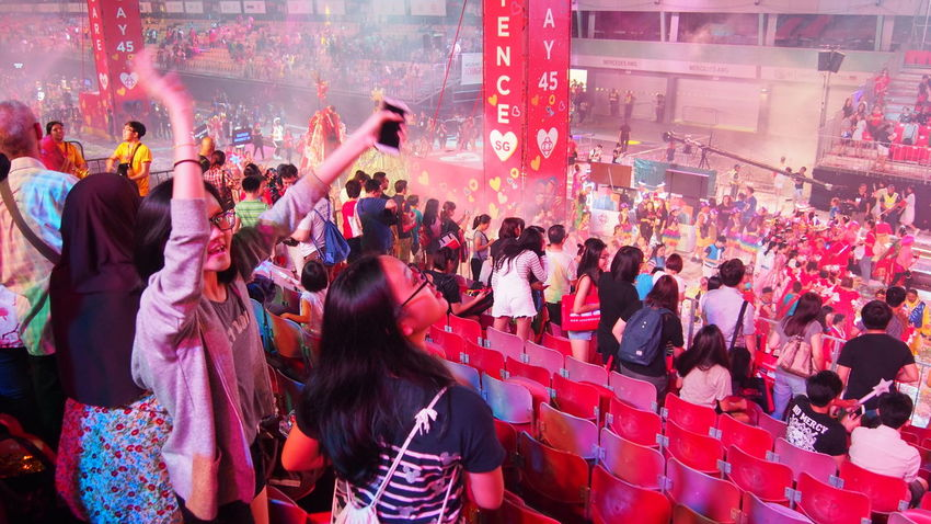 Adult Adults Only Audience Celebration Chingay Chingay2017 Crowd Festival Fun Large Group Of People Men Night Nightlife Outdoors Parade People Real People Togetherness Women Carnival Crowds And Details Carnival Crowds And Details Chinese New Year Chinese New Year 2017