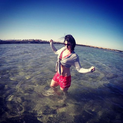 Holiday Ägypten Red Sea Water One Person Lifestyles Beach Sea Real People Clear Sky Beauty In Nature Nature Feeling Feeling Thankful