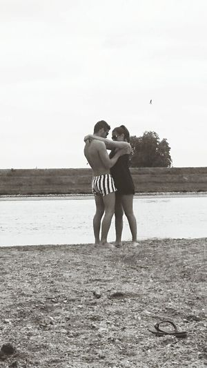 Twins Love Boyfriend Cute Couple Taking Photos OpenEdith Relaxing Weekend On The Road River View