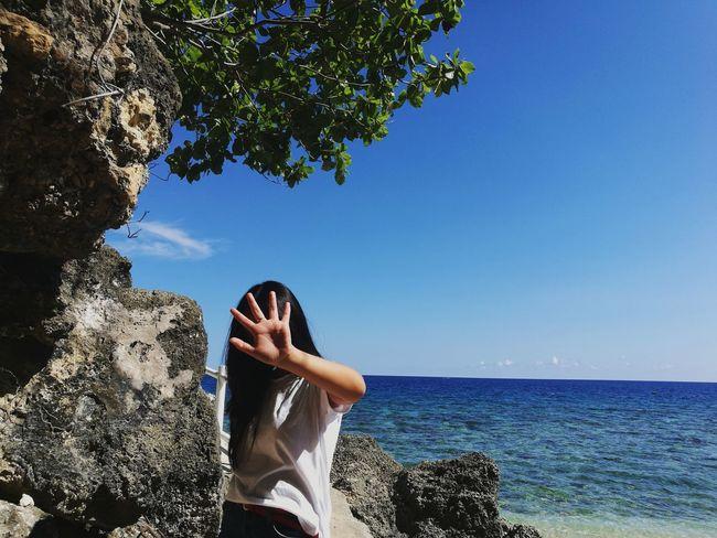 summer ♥️ Water Sea Beach Tree Blue Human Hand Sky Close-up Horizon Over Water
