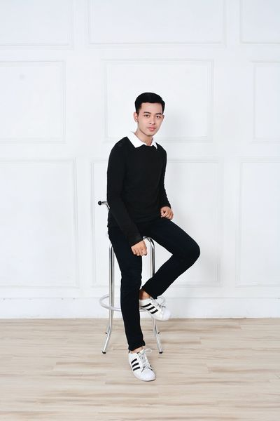 Portrait Black Color Mensfashion Menstyle Ootd Outfitoftheday Outfit Ootdindo Ootdindonesia Ootdindomen First Eyeem Photo