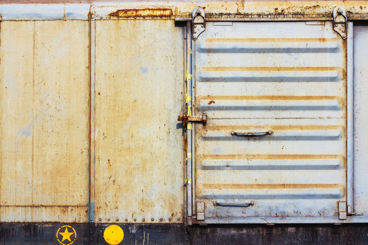 container Cargo Ship Cargo Train Container Container Ship Container Port Architecture Built Structure Cargo Cargo Container Close-up Closed Day Door Hinge No People Outdoors Protection Rusty Safety Weathered