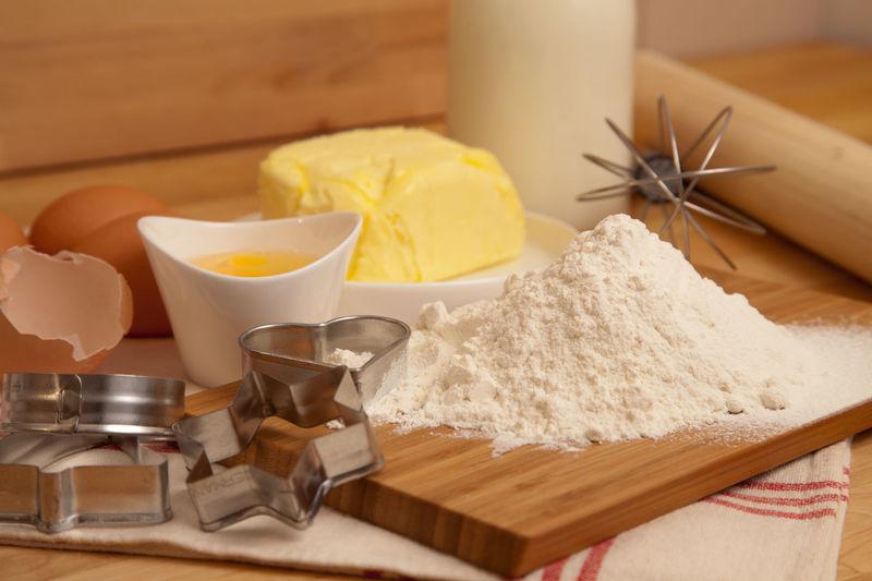 Cookie Ingredients In Kitchen