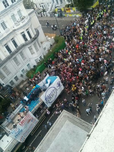 Nottinghill Carnival People Masses Rave Daytime Rooftop