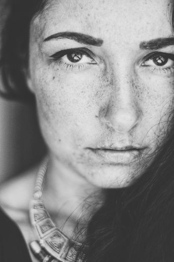 Freckles EyeEm Gallery Photography Blackandwhite Black And White Portrait Portrait Of A Woman Bnw Bw_collection Faces Of EyeEm Close-up Portrait Young Women Beautiful Woman Human Eye Beauty Human Face Headshot Looking At Camera Beautiful People Summer Exploratorium Visual Creativity This Is My Skin The Portraitist - 2018 EyeEm Awards