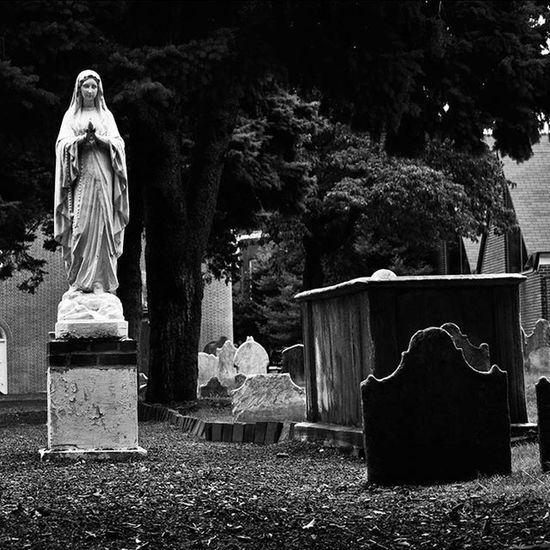 Cemetery Mary Photography Philadelphia Philly Travel Statue Graveyard Tombstone Bnw Blackandwhite Nikon D3300