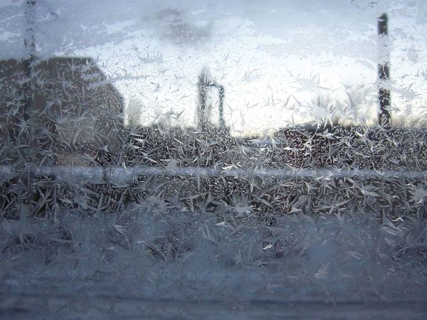 Day No People Frost Crystals Crystal Clear Waters Ice Lce On Glass Lce On Window Window Winter