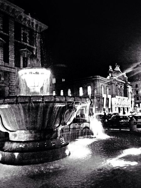 Teatro Petruzzelli and Fontaine Blackandwhite
