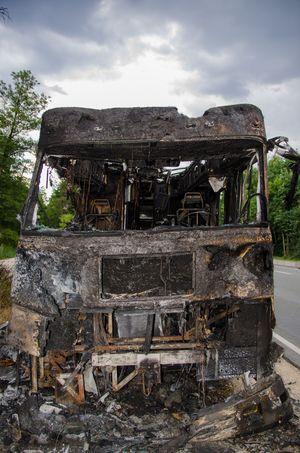 Unfall Ausgebrannt Wohnmobil
