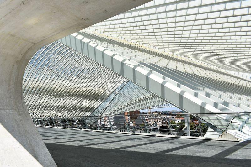 People walking in modern building