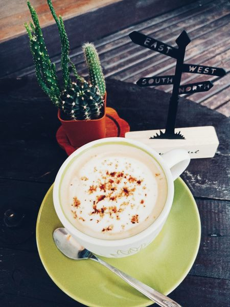 cup of hot capucino on the desk with cactus for chill time Cappuccino Hotdrinks Cafe Cappuccino Latte Frothy Drink Hot Drink Hot Chocolate Served Matcha Tea Cafe Macchiato Caffeine