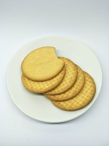 Biscuits Biscuits Yellow Round Shape Crunchy Food And Drink Yellow No People Food Indoors  Potato Chip Freshness