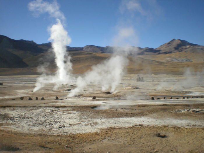 Smoke Emitting From Hot Springs At San Pedro De Atacama