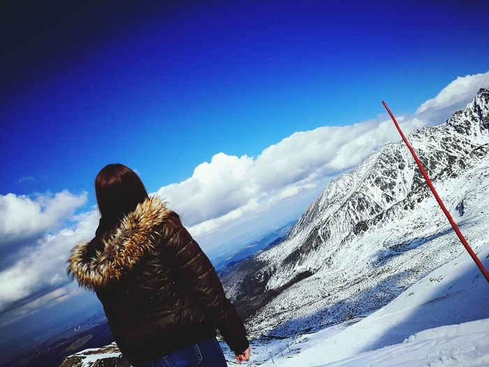 One Person Adults Only Snow Only Women Winter One Woman Only Cold Temperature Cloud - Sky Sky Sunlight People Freedom Outdoors Adventure Landscape FutureWife Love