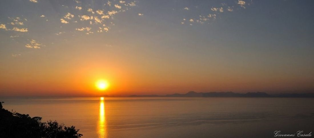 tramonto su Castellabate Tramonto Sunset Castellabate Mare