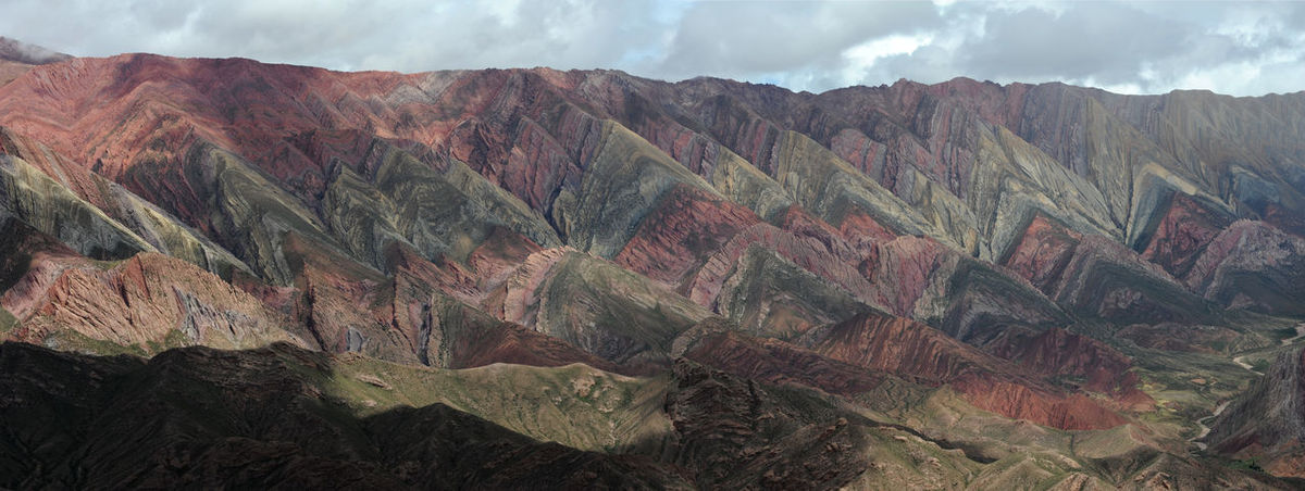 Andes Argentina Arid Climate Beauty In Nature Cloud - Sky Day Depression - Land Feature Geology Hornocal Humahuaca Landscape Mountain Mountain Range Nature No People Outdoors Physical Geography Rock - Object Scenics Sky Tranquil Scene Tranquility
