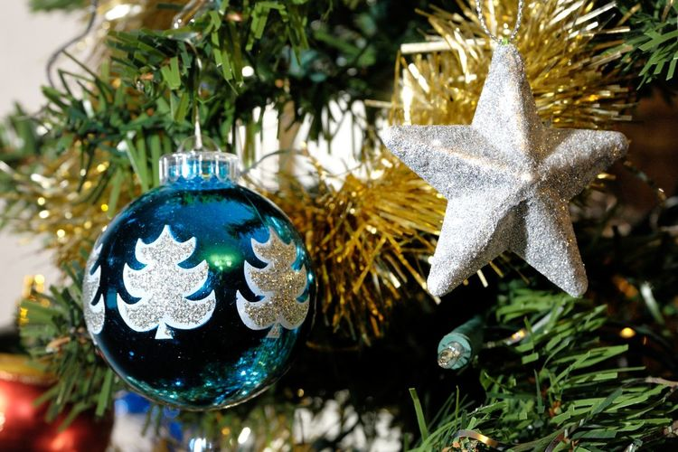 Bauble Celebration Christmas Christmas Decoration Christmas Lights Christmas Ornament Christmas Tree Close-up Cultures Day Decoration Focus On Foreground Hanging Holiday - Event Indoors  No People Shiny Tradition Tree Tree Topper