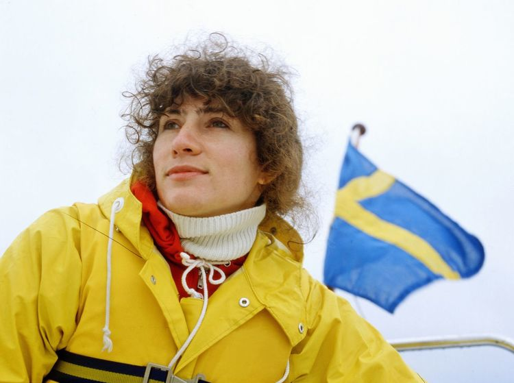 Sailing in the rain Bad Weather Rain Rain Gear Sailboat Sailing Swedish Flag