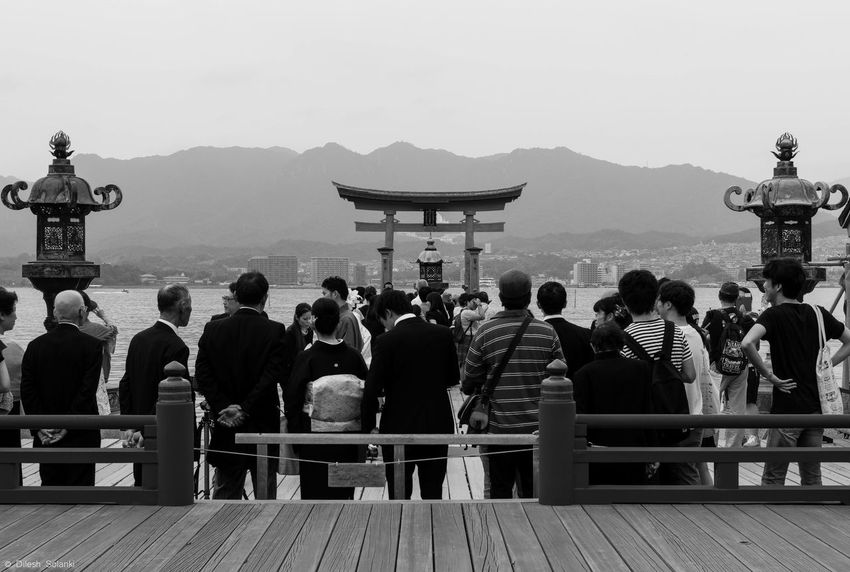 Weddings Around The World A wedding in front of the floating torii gates on Miyajima island. Sacred place for the japanese to get married. I just happened to be there as a tourist and got to capture a couple of shots. Miyajima Miyajima Torii Miyajima Island Hiroshima -Miyajima Japan Japanese Culture Japan Photography Japanese Temple Japanese Style Japanese Shrine Japanesegirl Japanese Traditional Japanese Wedding