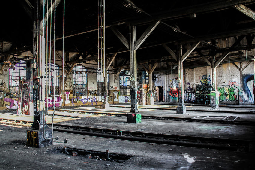 Leipzig Architecture Bahnbetriebswerk Built Structure Day Indoors  Lost Places In Leipzig Lostplace Lostplaces No People