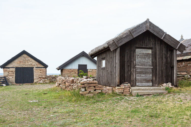 Old boathouse at the coast