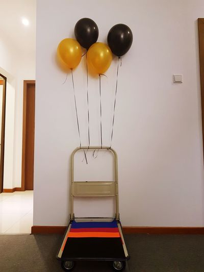 View of balloons