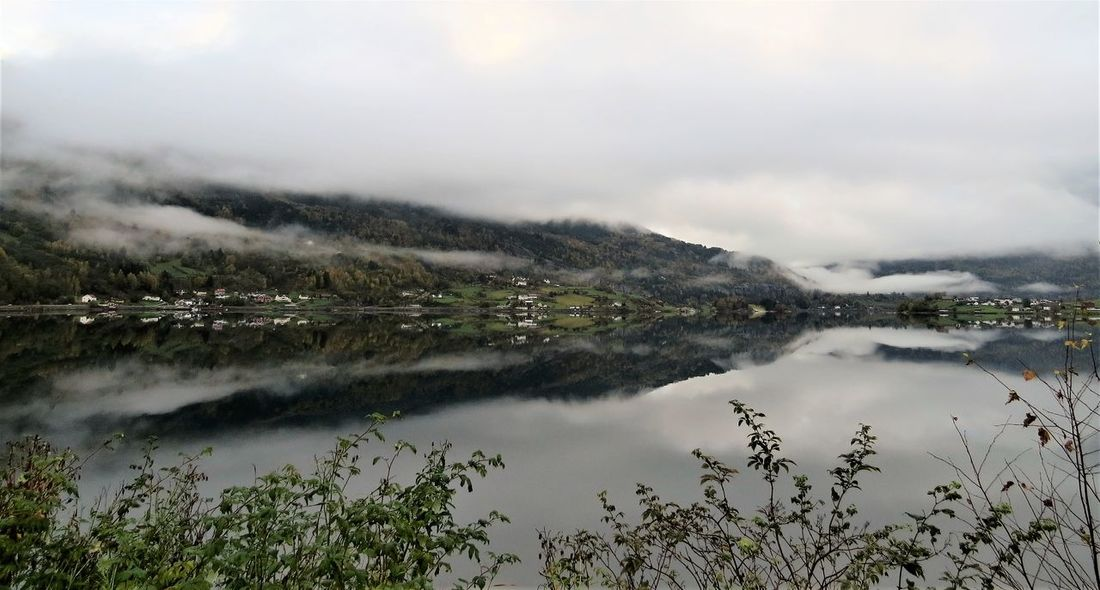 Reflection Beauty In Nature Day Lake Mountain Nature Outdoors Power In Nature Reflection Lake Reflection Photography Reflection_collection Reflections Reflections In The Water Scenics Sky Sogn Og Fjordane Sogndal Tranquil Scene Tranquility Water