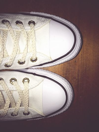 Close-up Shoes Trainers ❤ Close Up Indoors  Favourite Ready To Put Away Laces White