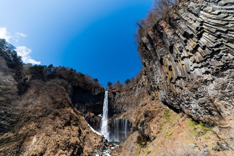 Kegon Falls Nikko Japan Photography Japan Sky Nature Beauty In Nature Tree No People Water Blue Low Angle View Waterfall Clear Sky Outdoors