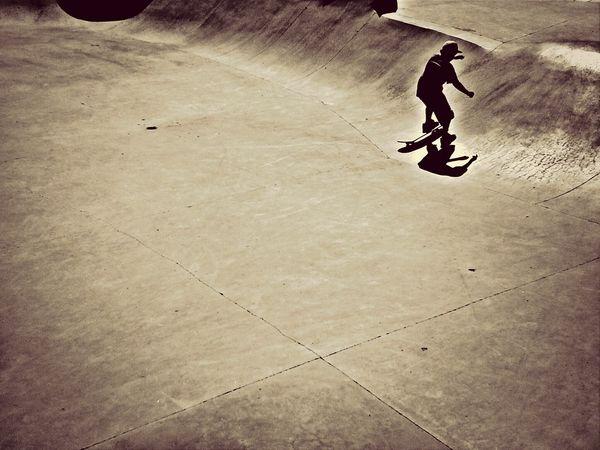 Enjoying Life Skateboarding Skatepark Hanging Out