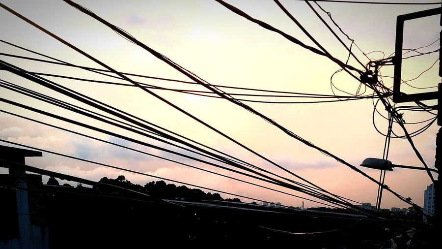 Cable Power Line  Connection Power Supply Telephone Line Silhouette Technology First Eyeem Photo
