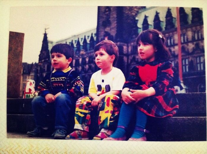 Since 1990 Hamburg Rathausmarkt With My  Brother And Cousin Nostalgy ❤️