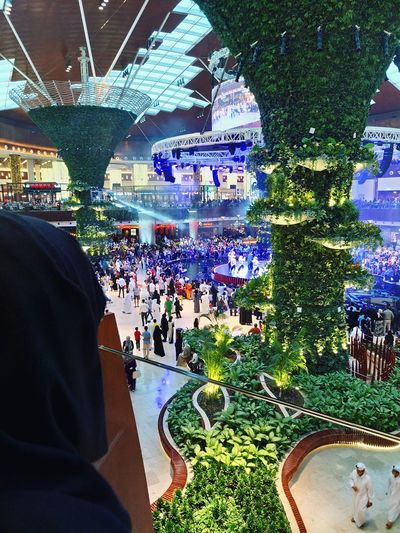 View of Mall of Qatar. One of the largest shopping mall in whole of asia. Day Real People Seemydoha Architecture Traditionaldress Burqah Connected By Travel